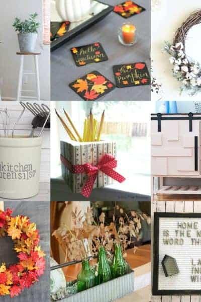 square collage of farmhouse and fixer upper style home decor ideas
