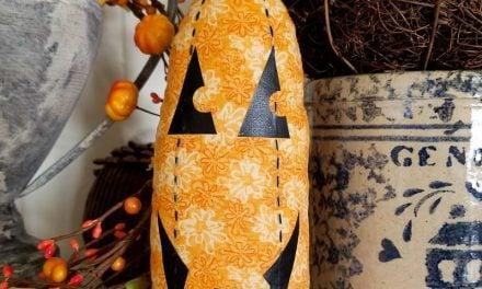 How-To Make a Stuffed Fabric Pumpkin