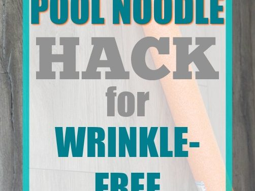 The Pool Noodle Hack for Wrinkle-Free Laundry
