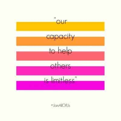 """""""our capacity to help others is limitless"""" graphic"""