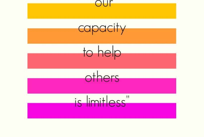 """our capacity to help others is limitless"" graphic"