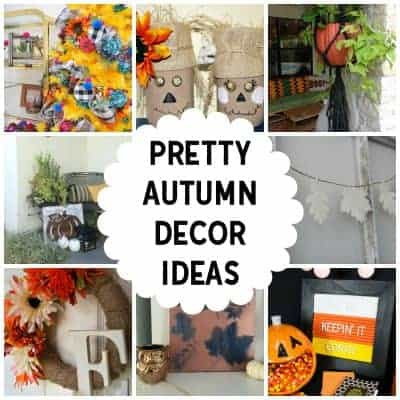 group of pretty autumn decor ideas and crafts