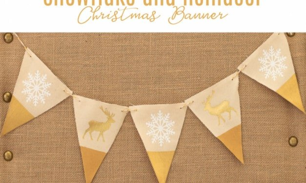Snowflake and Reindeer Christmas Banner with the Cricut