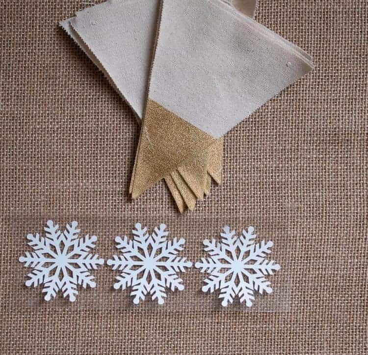 Cricut Iron on Snowflakes