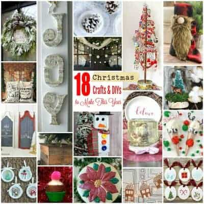 Collage of 18 Christmas Crafts, Ornaments, and DIYs