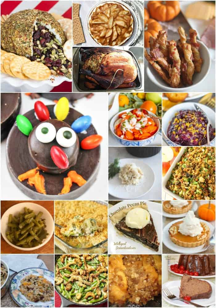 Collage of Thanksgiving Dinner Recipes