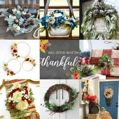 Winter and Christmas wreaths and greenery decorating ideas