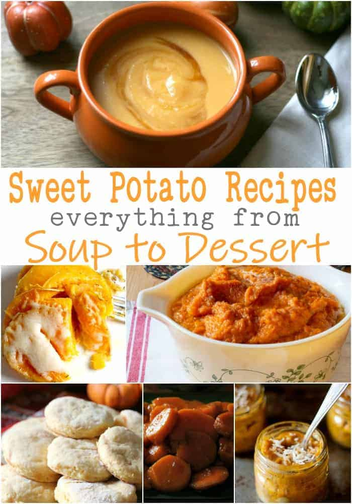 pictures of many sweet potato recipes