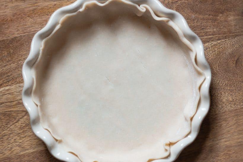 Pie crust in Pioneer Woman pie plate