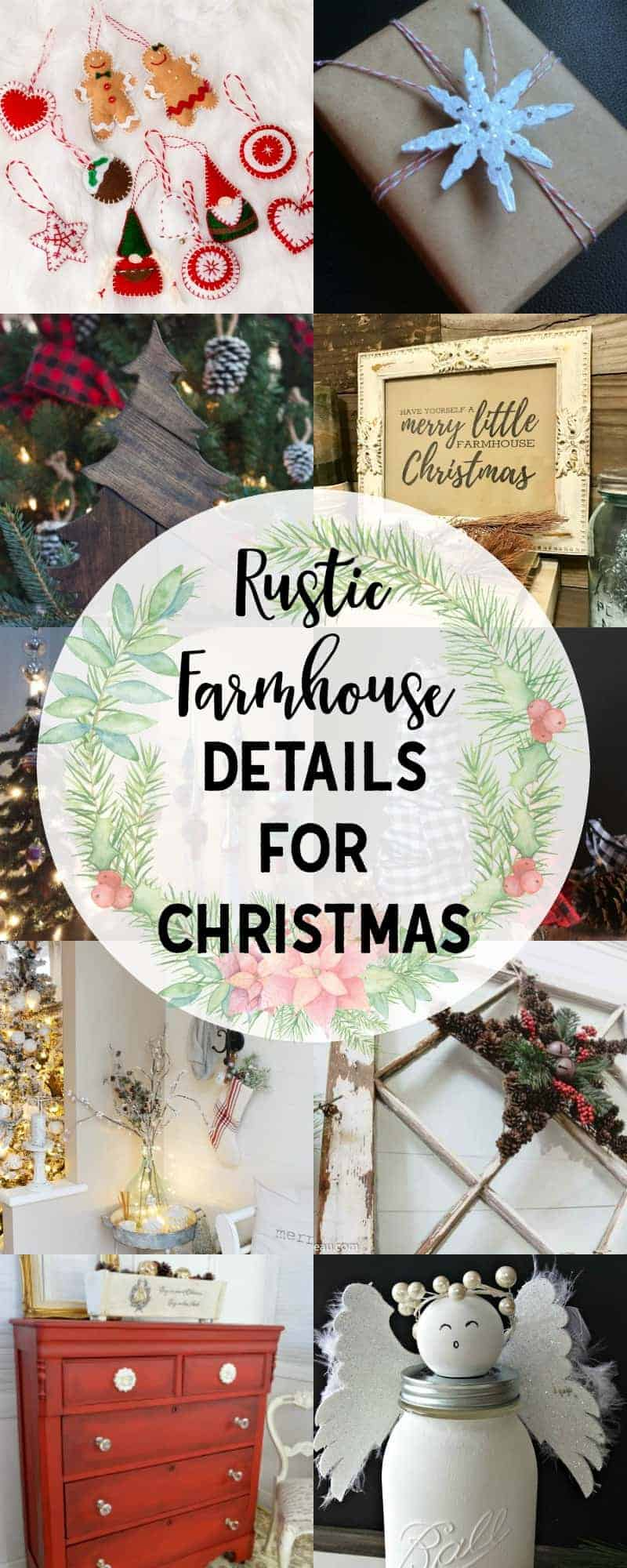 Pictures of beautiful rustic farmhouse Christmas decor