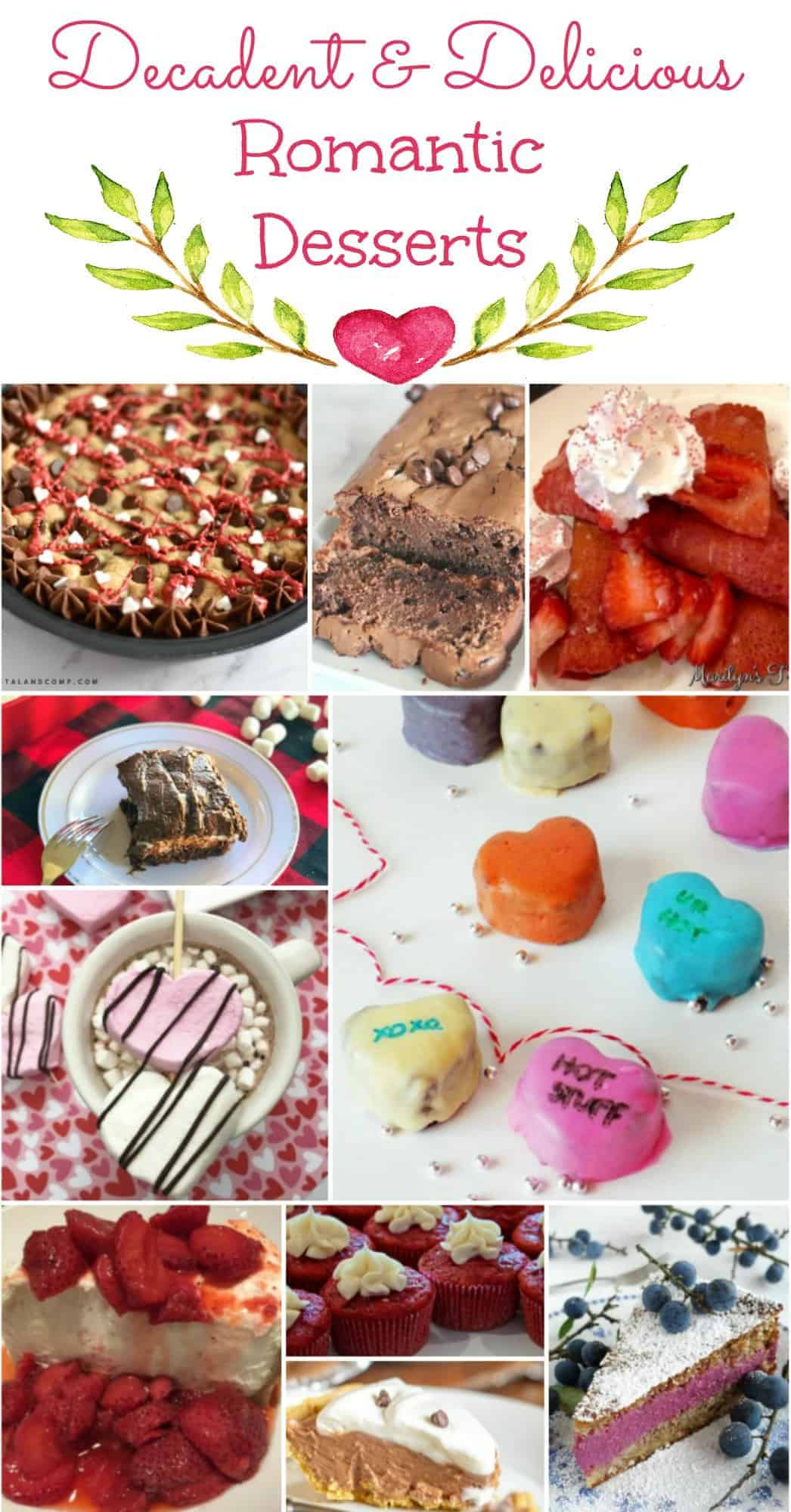 Collage of delicious desserts