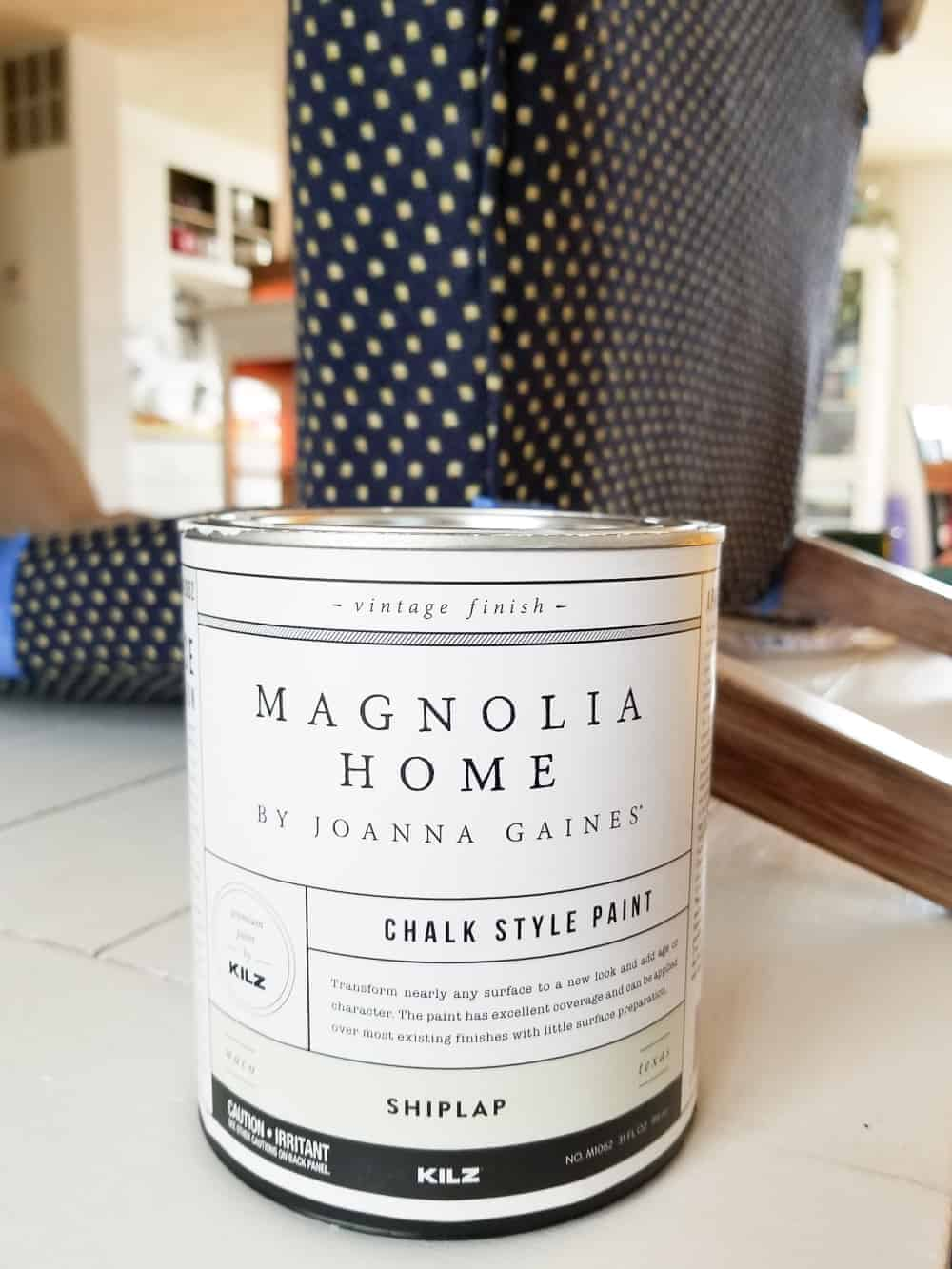 Can of Magnolia Home Chalk Style Paint in Shiplap