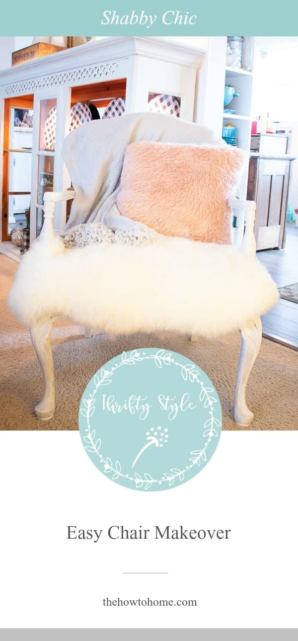 Graphic of a shabby chic chair