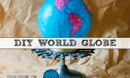 DIY World Globe from a Thrift Store Light Globe