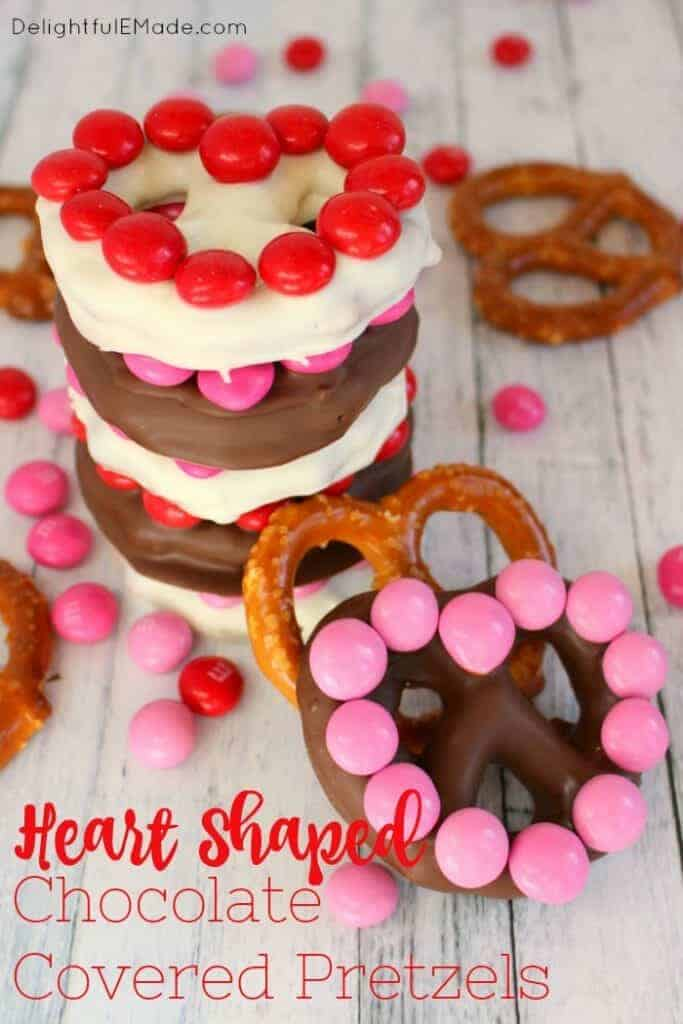 Heart shaped chocolate covered pretzels - recipe