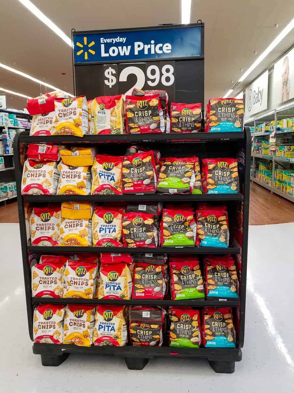RITZ Crisp & Thins at Walmart on Game Day Rack