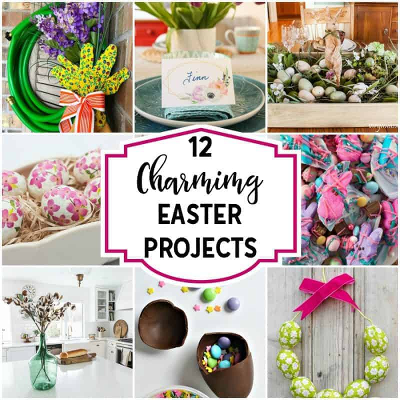 Square collage of Cute and Charming Easter Projects