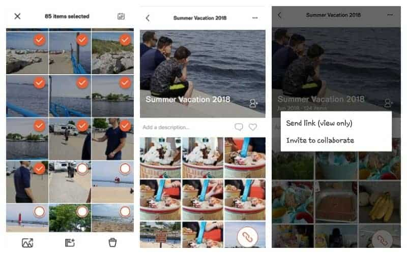 Collage of photos showing the ibi app in action