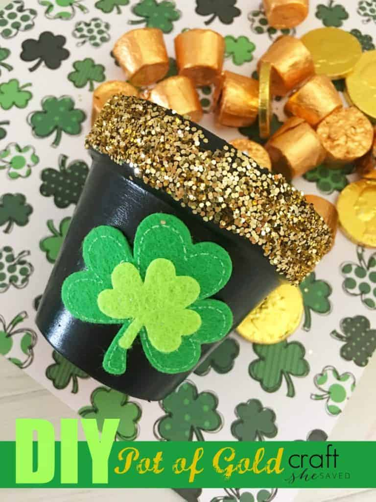 DIY Pot of Gold Craft for St. Patrick's Day
