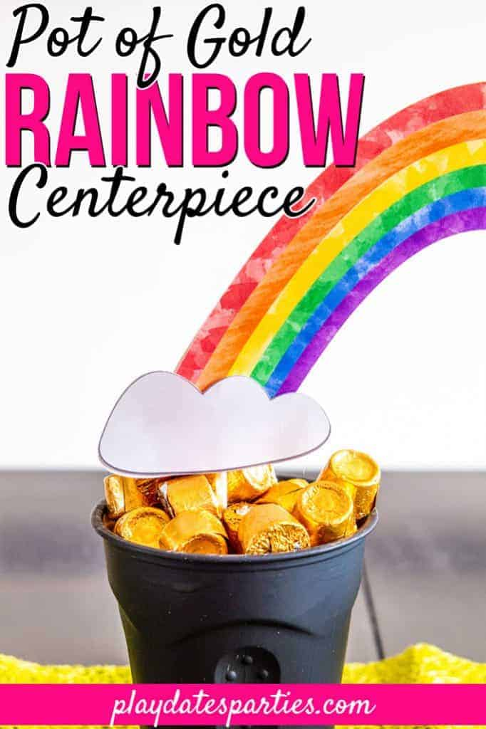 Pot of Gold Rainbow Centerpiece for St. Patrick's Day