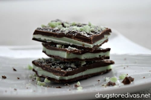 Layered chocolate mint bars