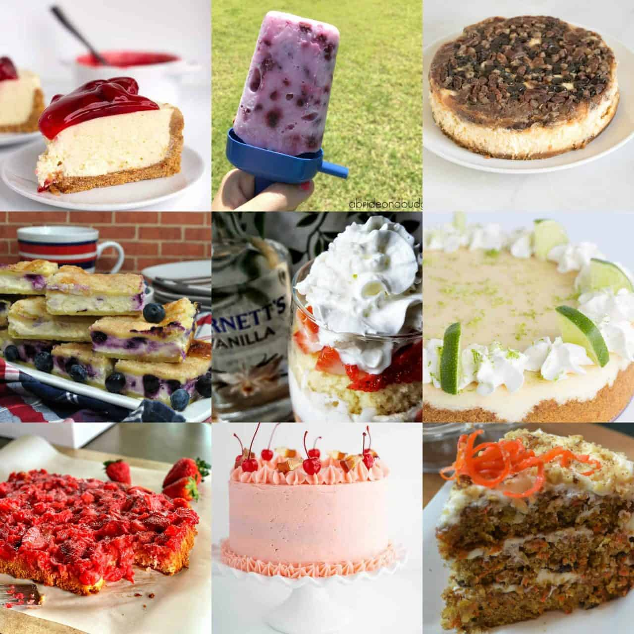 9 lovely photos of desserts that would be wonderful to serve for spring.