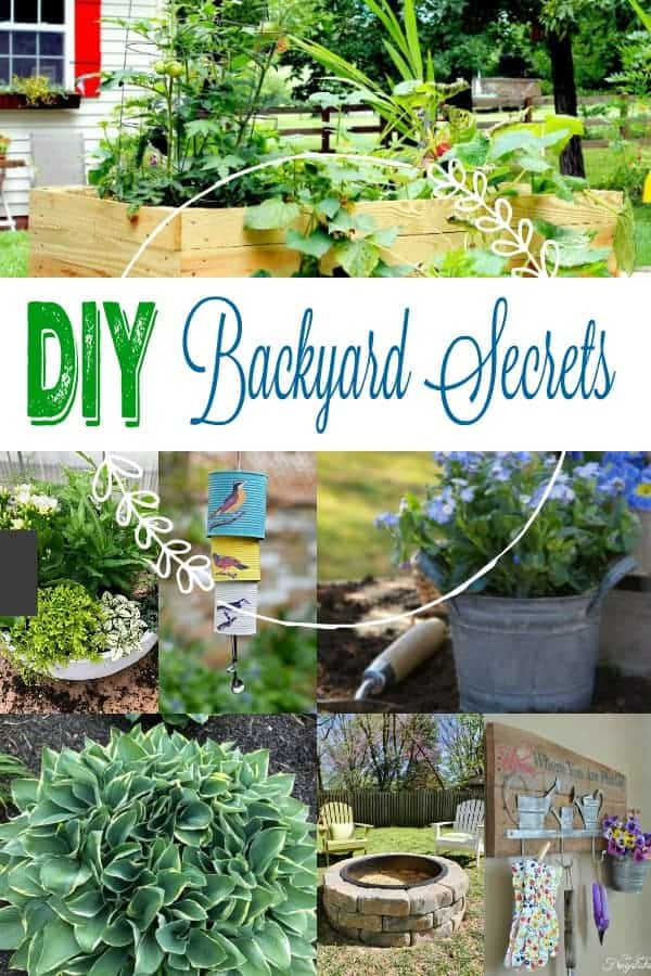 Long collage of 7 gardening ideas - DIY Backyard Secrets