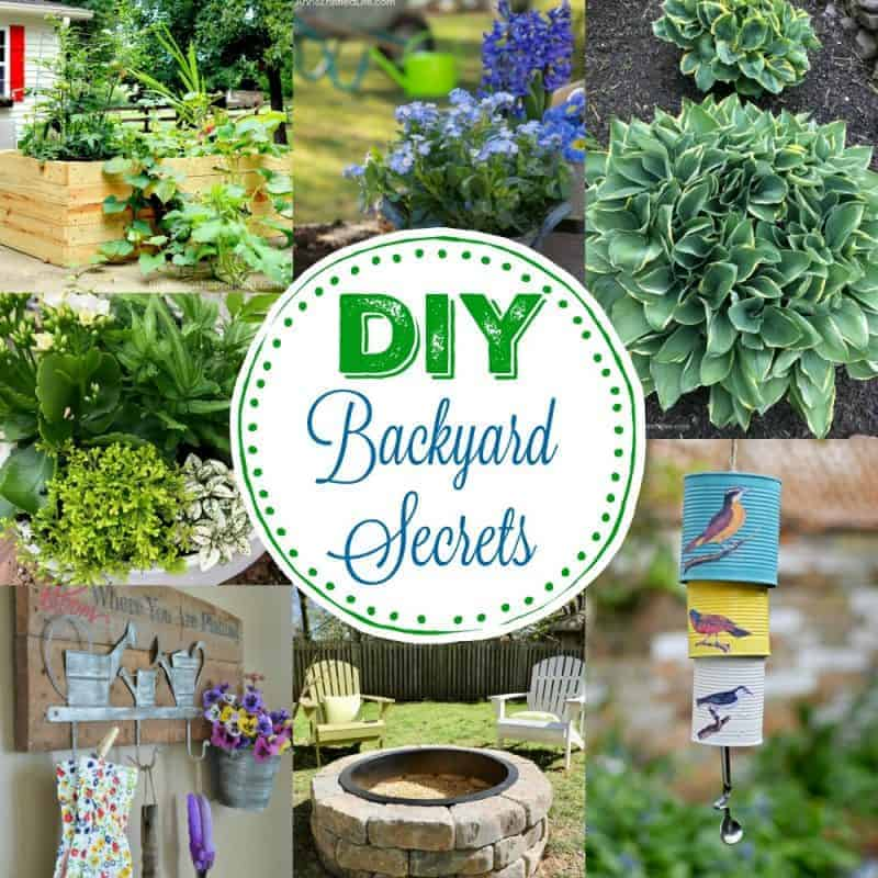 Square collage of 7 gardening ideas - DIY Backyard Secrets
