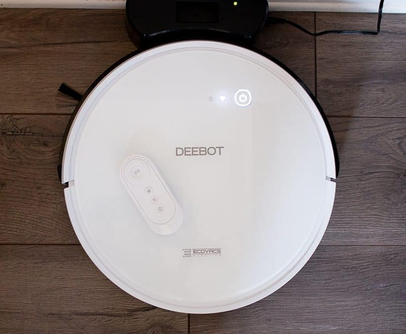 top view of ECOVACS DEEBOT 600 robot vacuum