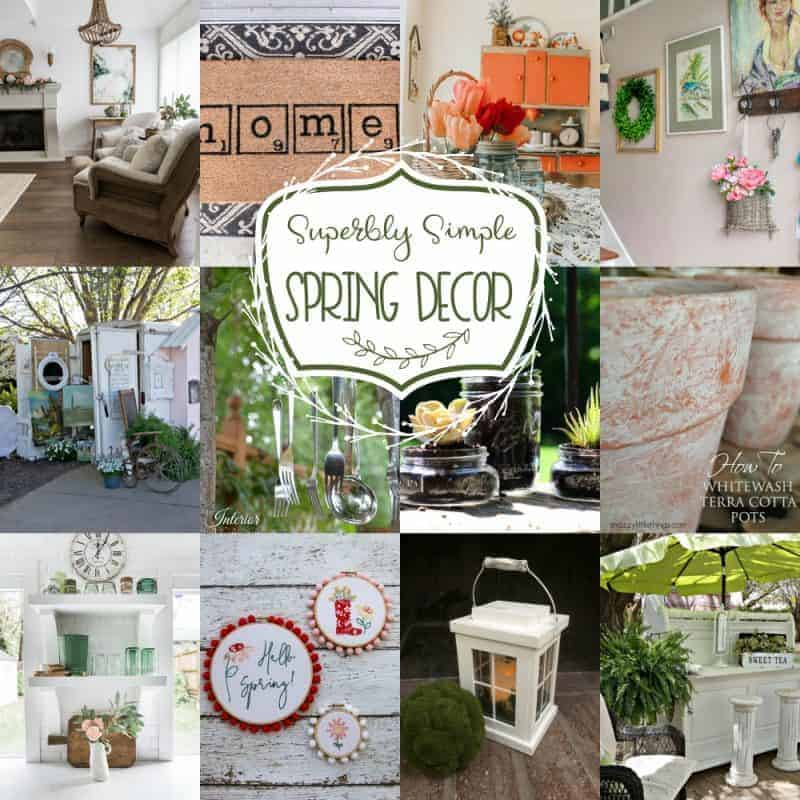 Collage of 12 beautiful ideas for superbly simple spring decor