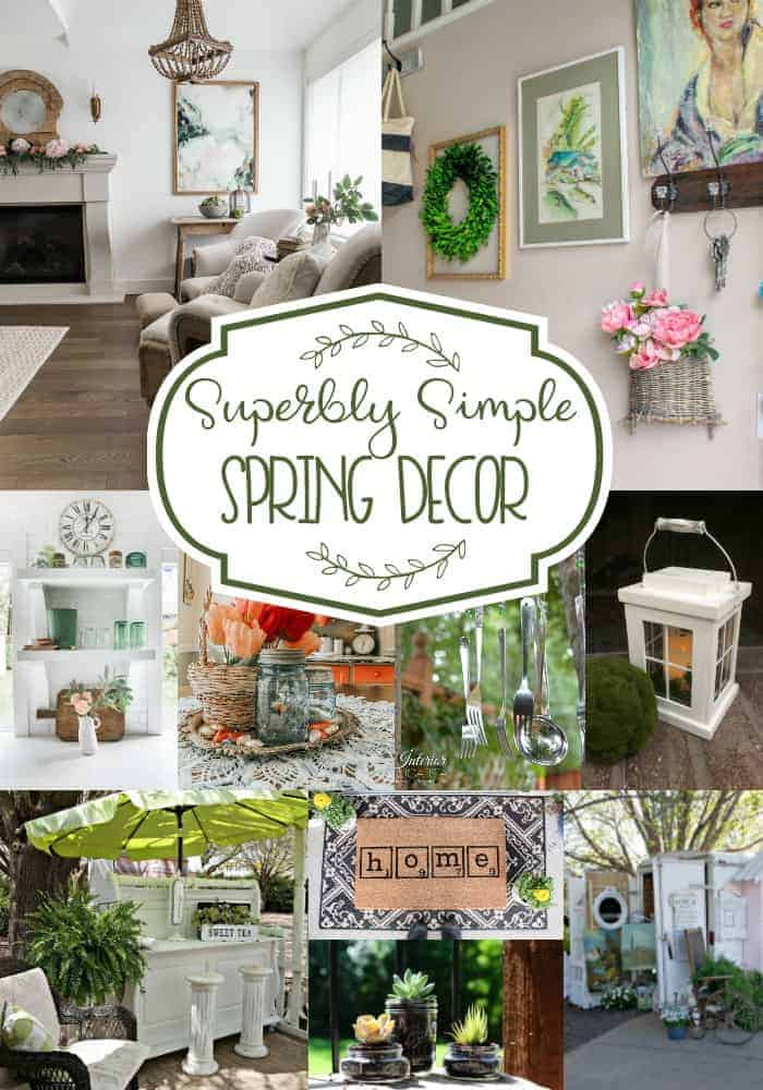 Beautiful collage of superbly simple spring decor - lots of diys and inspiration