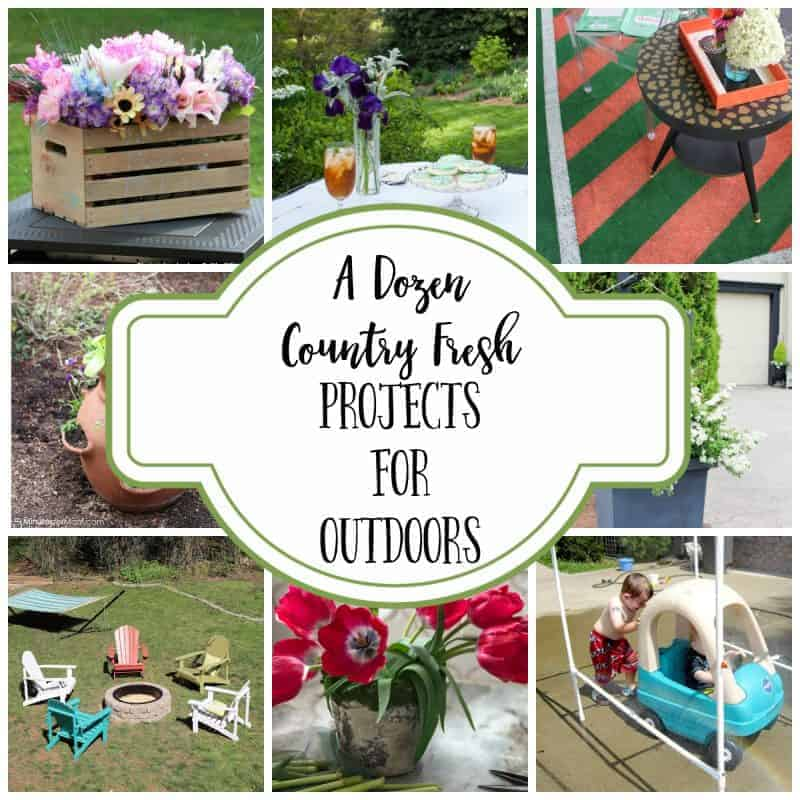 Collage of 12 outdoor projects and DIYs