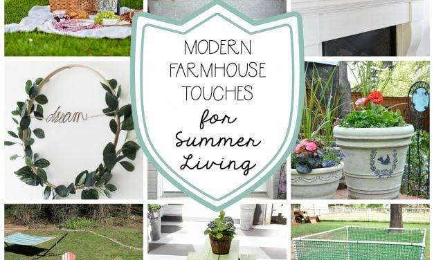 Modern Farmhouse Summer Decor