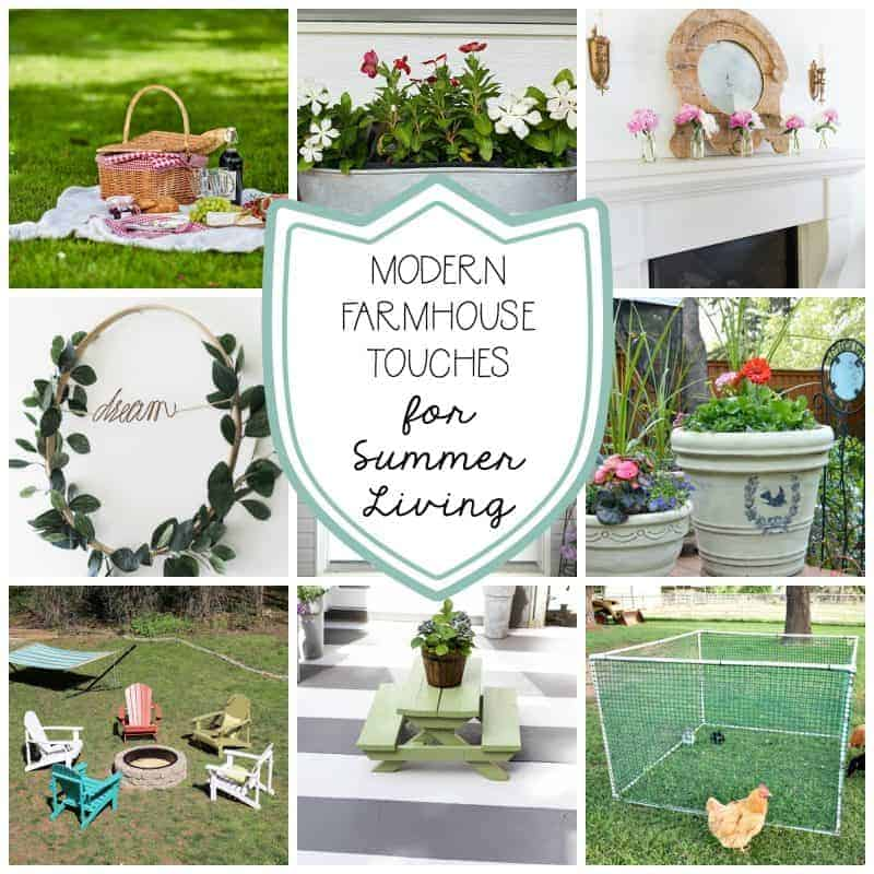 Collage of Modern Farmhouse Summer Decor