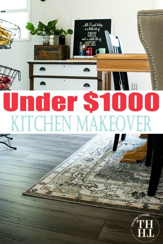Under $100 kitchen makeover after photo