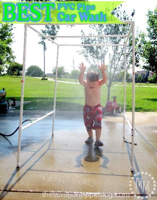 DIY PVC sprinkler for kids