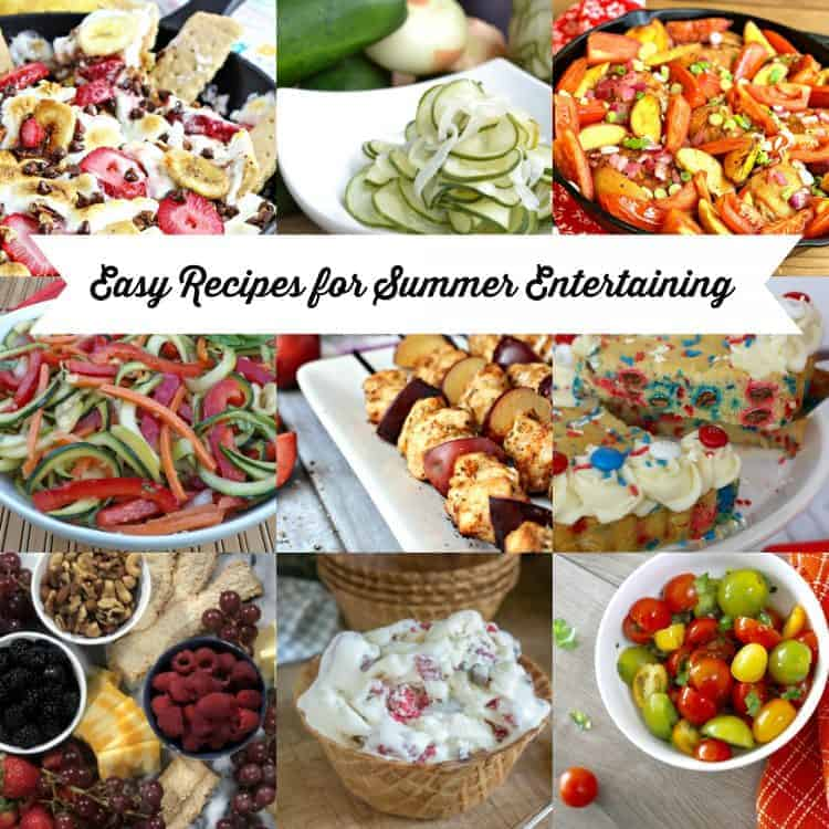 12 beautiful recipes to serve for a summer party or family get together