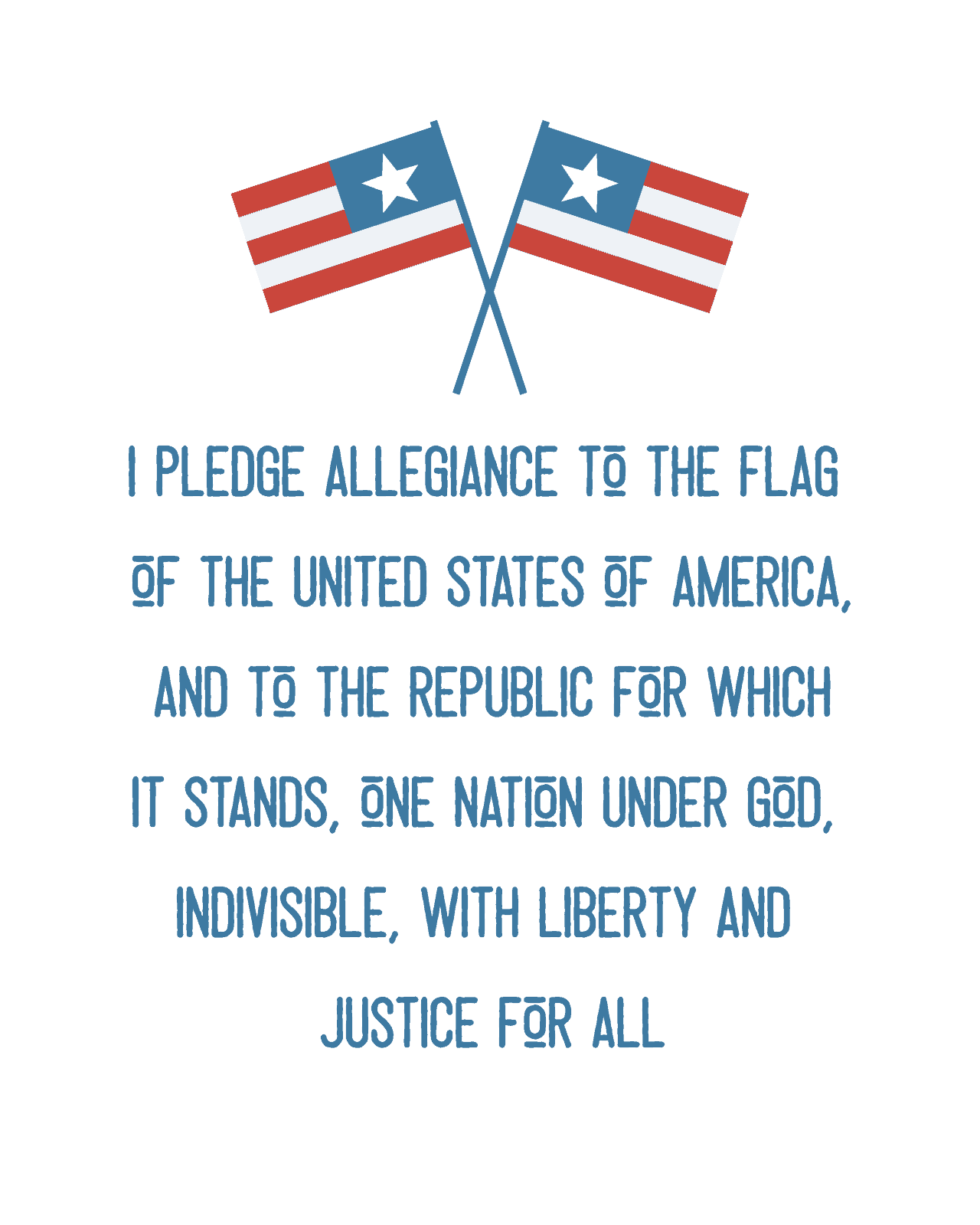 picture about Pledge of Allegiance Printable named 4th of July Printables The How-In the direction of Property