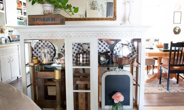Shabby Chic Farmhouse Hutch Makeover