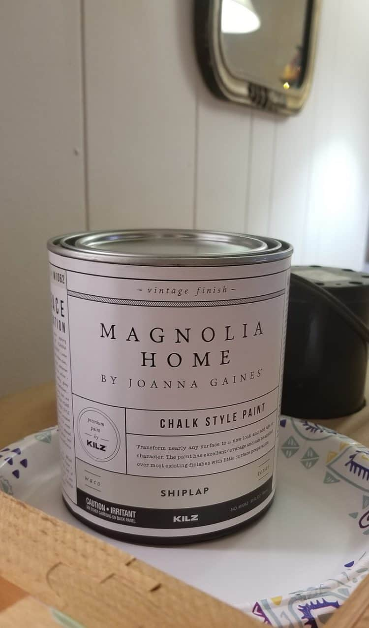 Can of Magnolia Home Chalk Style Paint in Shiplap color