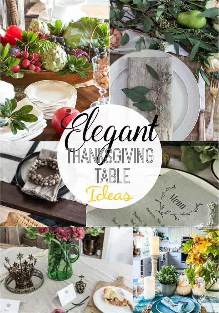 6 lovely Thanksgiving tablesetting ideas