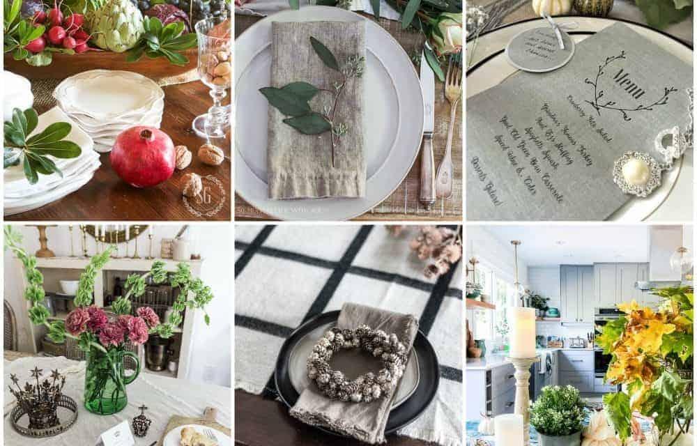 Elegant Thanksgiving Table Ideas