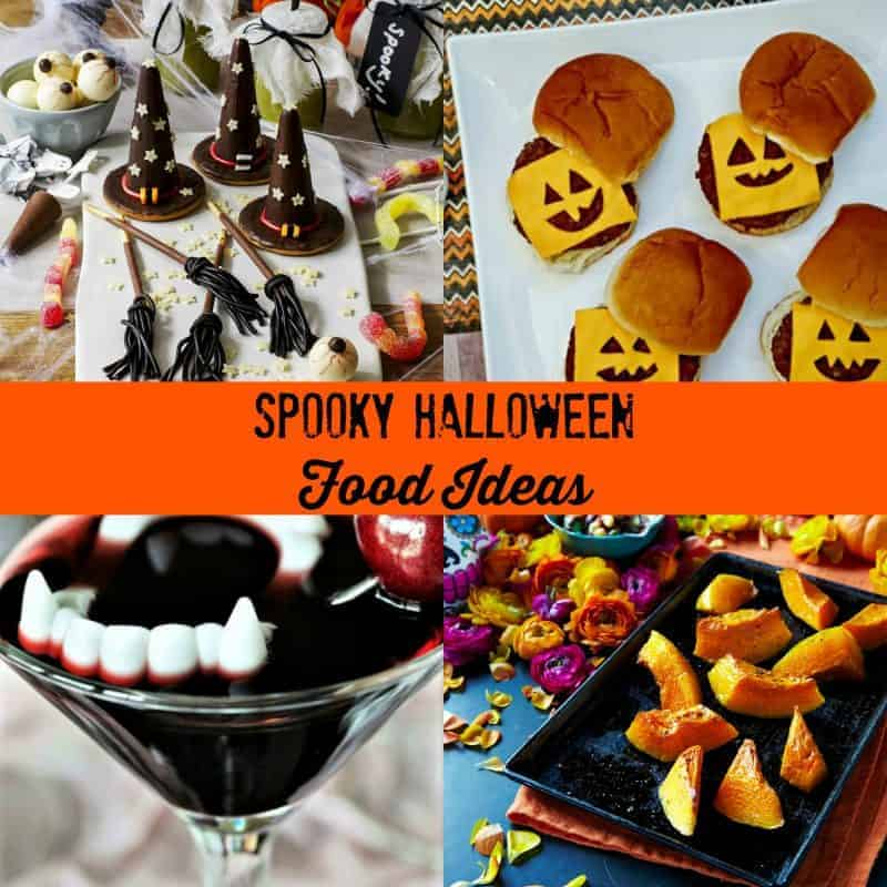 Collage of Halloween food ideas
