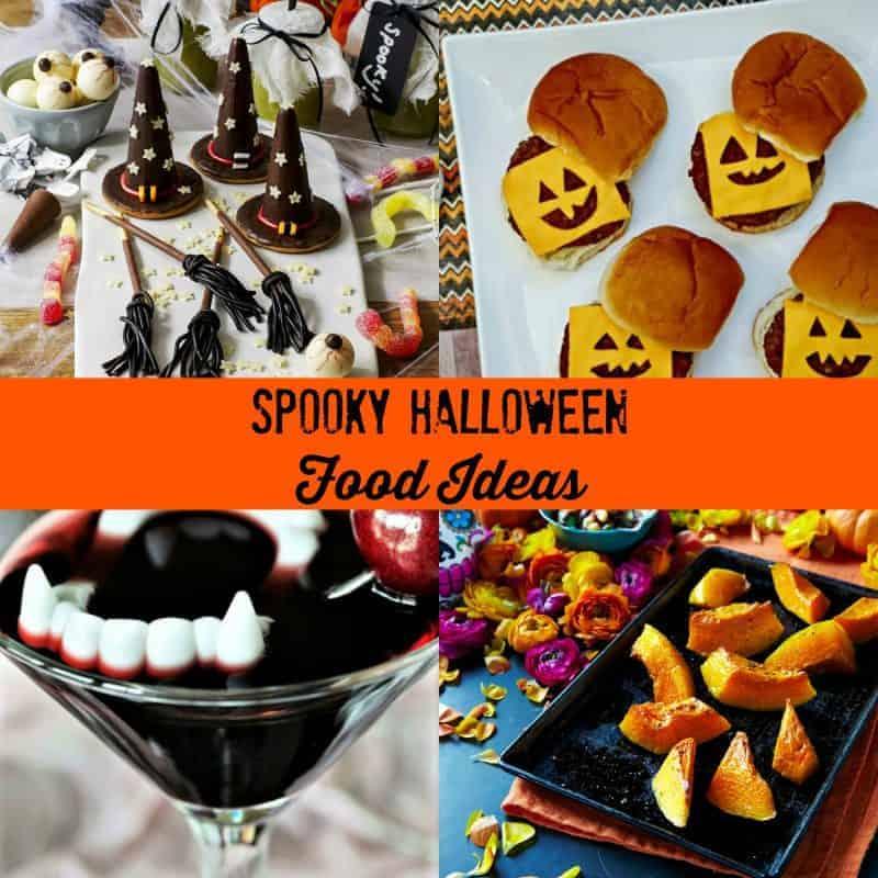 Collage of Halloween food ideas