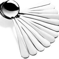 Stainless Steel Bouillon Spoons (12)
