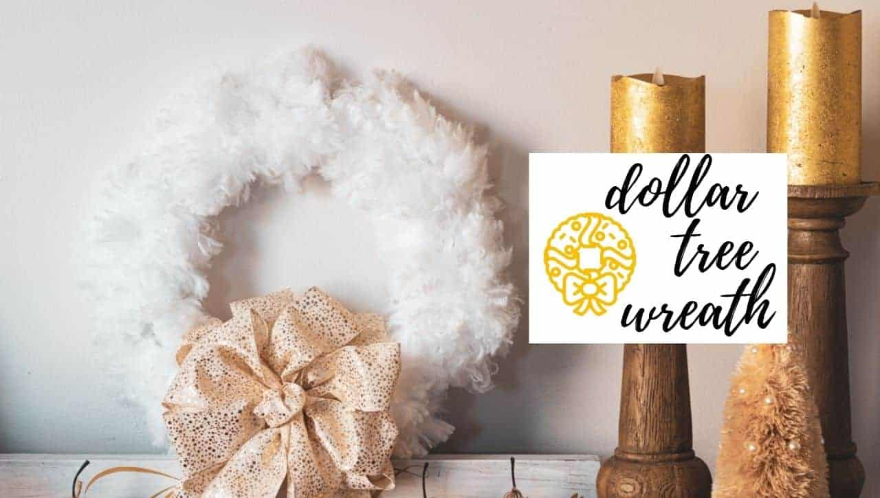 Dollar Store Duster Christmas Wreath