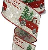 Christmas Vintage Truck Ribbon
