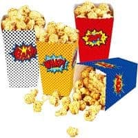 Super Hero Popcorn and Treat Party Containers