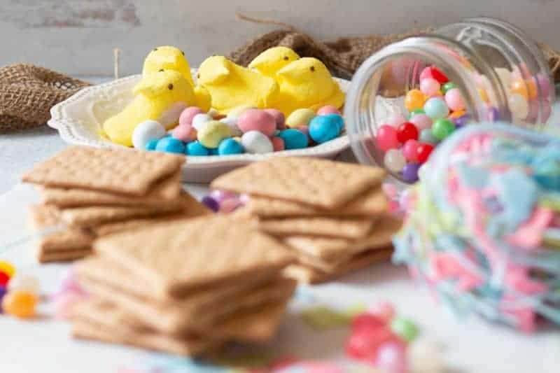 Ingredients for PEEPS Houses out of packaging