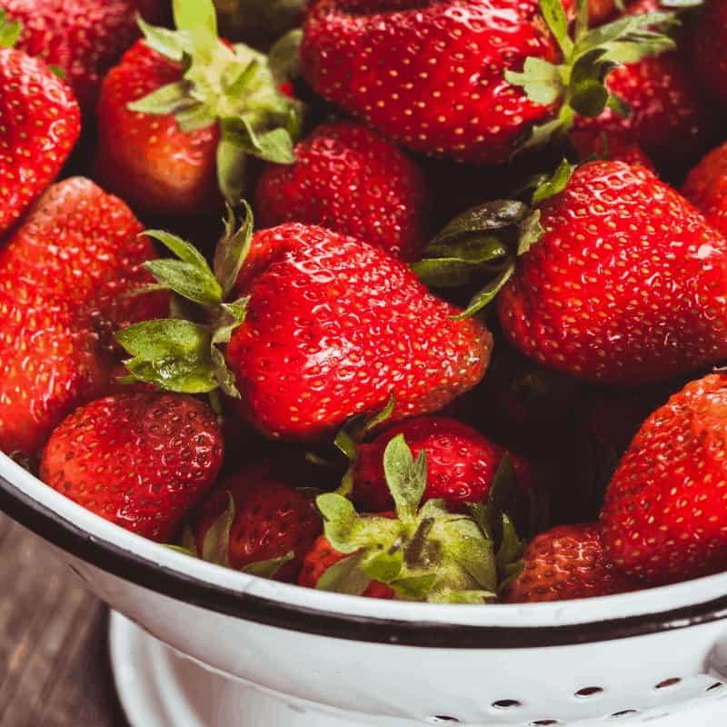 Fresh Strawberries in a colander
